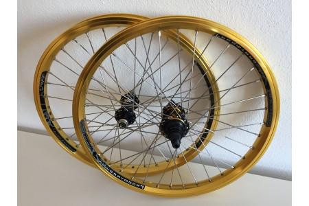 BMX Задна и Предна Капла (Wheelsets) SaltPlus Trapez &  NS Rotary + Dartmoor Fortress Шини 20''